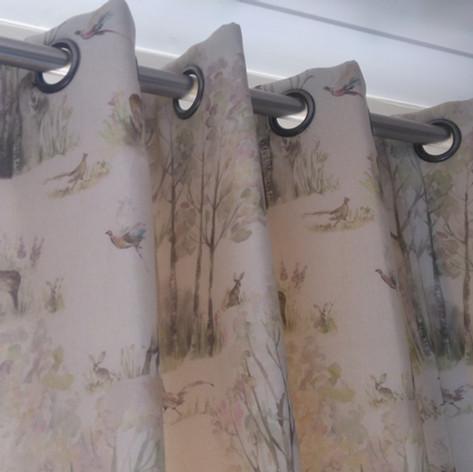 Highland Cow Eyelet Curtains