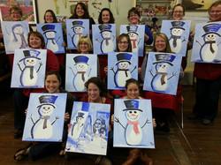 Teachers Paint Frosty's Cousin