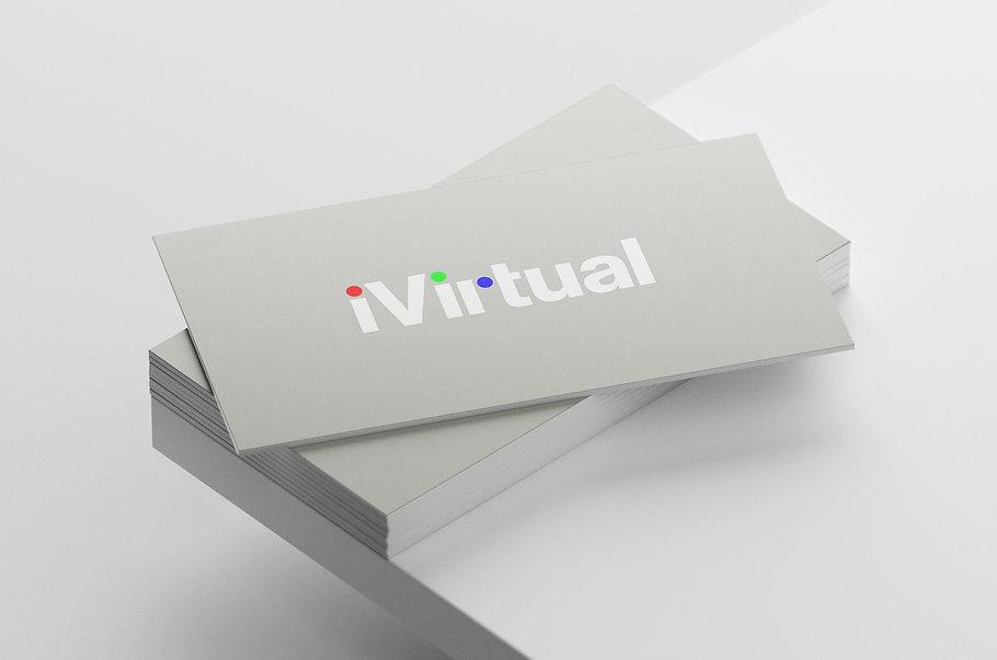 iVirtual Technologies Logo Conflict Design