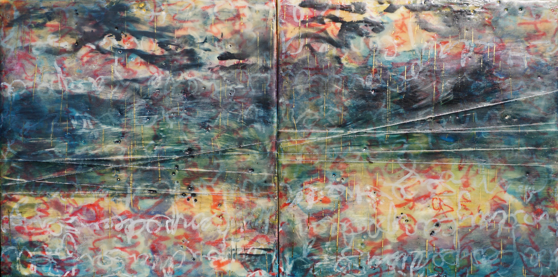 Seize the Day - 11 1/2 x 21 1/2 inches (Diptych)