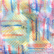 Summer In The City, 5 x 5 inches,