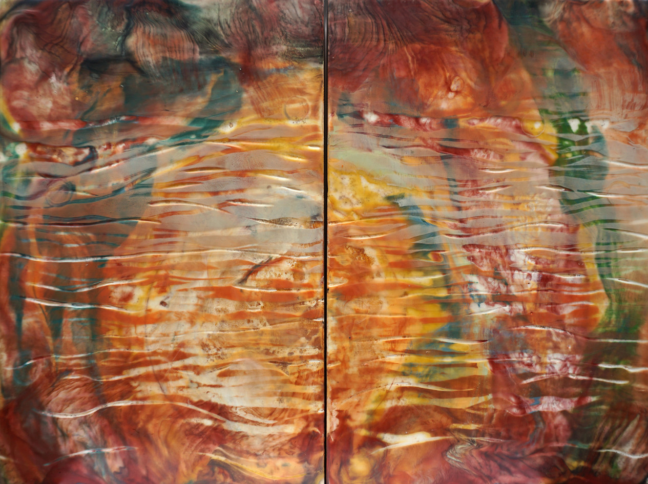 WaterFire - 18 x 24 inch (diptych)
