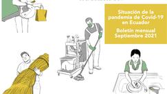 Boletín mensual Septiembre 2021 | Situación de la pandemia de Covid-19 en Ecuador