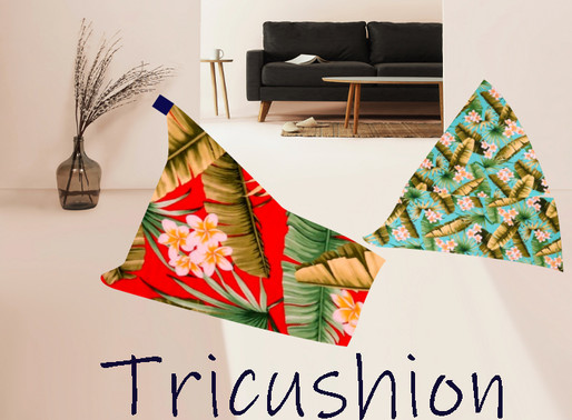 Do you like snuggling up to your cushion on the couch?  Let's make a  Hawaiian pattern Tri-cushion!