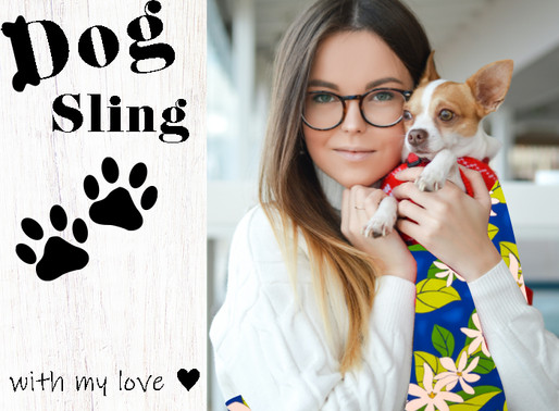Let's try making a dog sling with Hawaiian pattern fabric!
