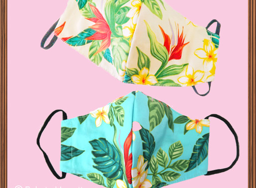 Where did you find cute Hawaiian pattern mask?