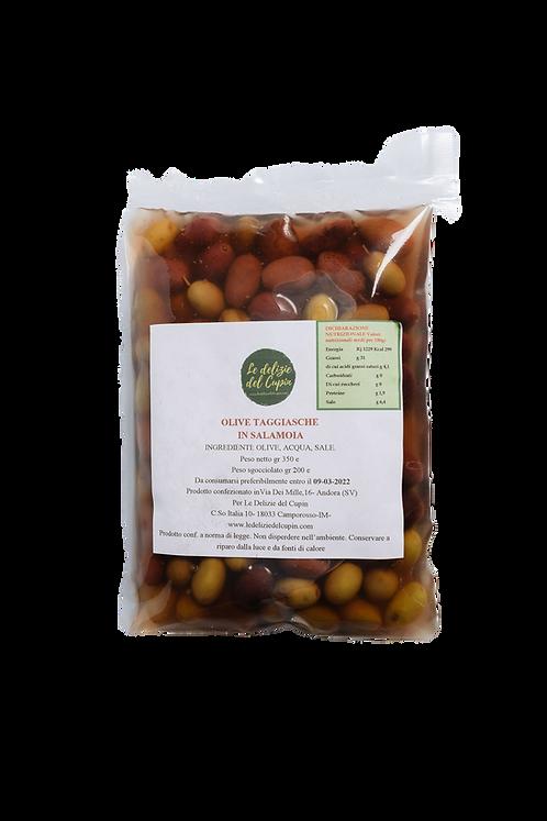 Olive 100% Taggiasche in Salamoia 200gr