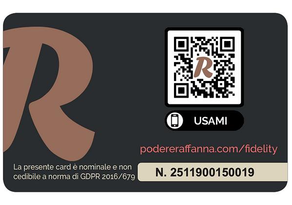 retro fidelity card agriturismo podere r