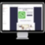 schermo del MAC con immagine di contatto
