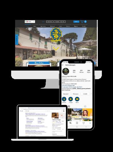 sito web nel settore food and beverage