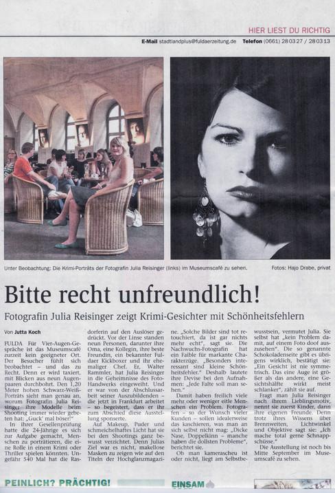 Ausstellungsartikel Fuldaer Zeitung