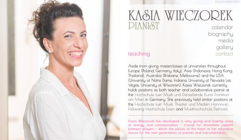 Pianistin Kasia Wieczorek