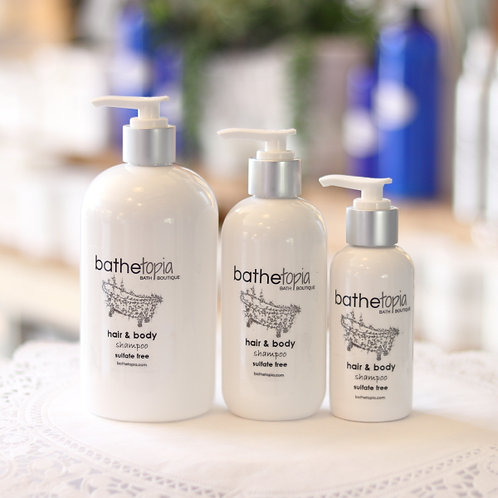 sulfate free hair and body shampoo  8 oz