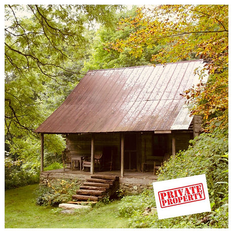 cabin with private property sign.jpg