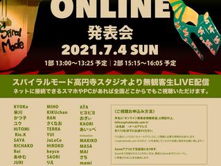 スタジオ ミニONLINE 発表会 開催 !!