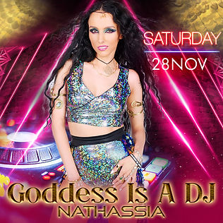 Goddess Is A DJ Live _ November Artwork