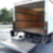 We Move GTA - Cartage Services' truck with a liftgate lowered down