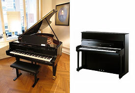 Black Grand Piano and Black upright piano | Piano Movers Toronto