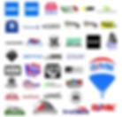 various logos of real estate companies