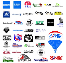 various logos of real estate companies