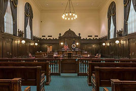 Courtroom in the U.S. 5th Circuit Court of Appeals in New Orleans, LA