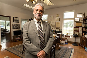 Marty Cirkiel standing in his Round Rock, TX office