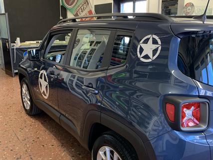 Jeep Renegate stelle bianco perlate lucido