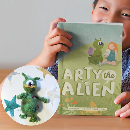 Arty the Alien Book and Felt Toy, Premium Package