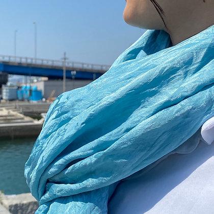 藍染シルクストール