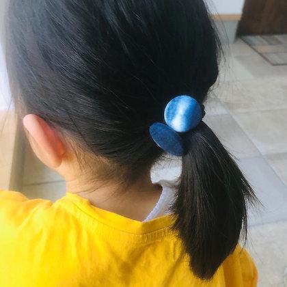藍染ヘアゴム