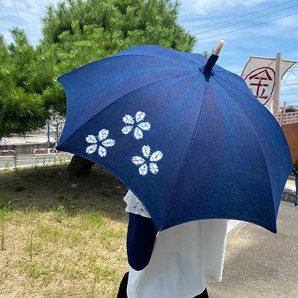 藍染日傘(絞り)