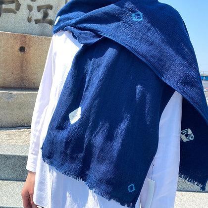 藍染ストール(絞り)