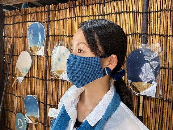 藍染マスク【しじら織】