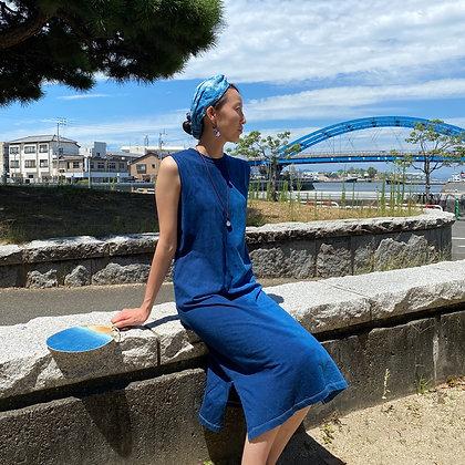 藍染ワンピース(オーダーメイド)