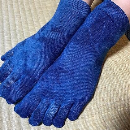 シルクレディース靴下(藍返し)