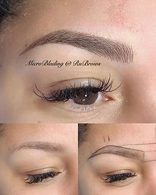 microblading 3D feathering eyebrows