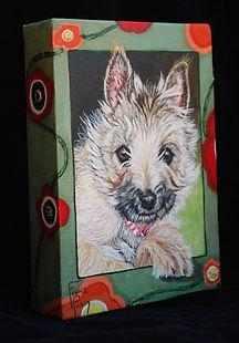 Custom Pet Painting of Cairn Terrier dog