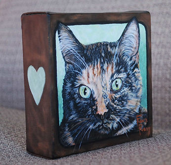 Tortoiseshell Cat Pet Painting