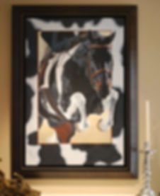 Hunter Jumper Horse painted portrait