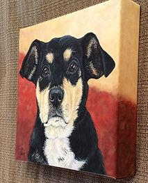 Pet Portrait Canvas Side View