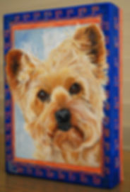 Dog Portrait Canvas Yorkshire Terrier