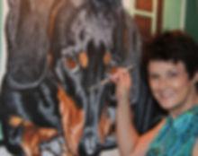 Dog portrait Artist Fiona Purdy