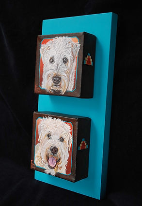 Wheaten Terrier Dogs pet portrait