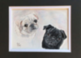 Custom Pet Art Pug Dogs