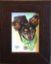 Chihuaua dog pet portrait art