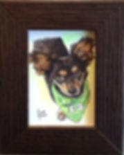 Chihuaua dog pet portrait art