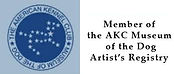 Member of the American Kennel Club Museum of the Dog Artist's Registry logo