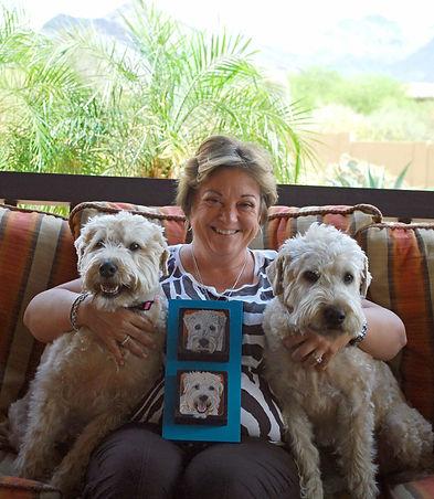 Wheaten Terrier Painted pet portrait by pet portrait artist Fiona Purdy