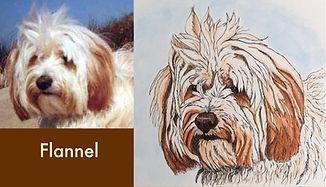 Tibetan Terrier portrait painting with photo