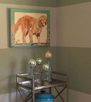 Custom hand painted portrait Golden Retriever
